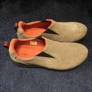 L.LBean Men's Rugged Ridge Slip-Ons,Suede (NWOT)